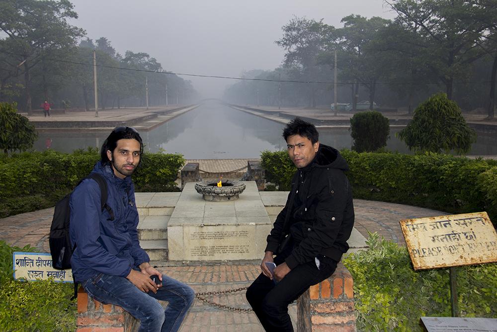 Saroj with Mr. KC